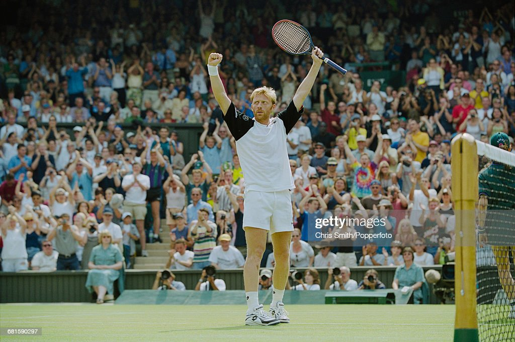 Boris Becker At 1999 Wimbledon Championships : News Photo