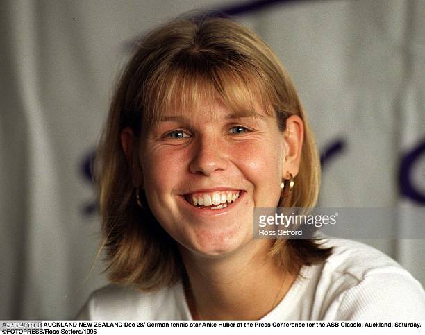 German tennis star Anke Huber at the Press Conference for the ASB Classic Auckland Saturday r