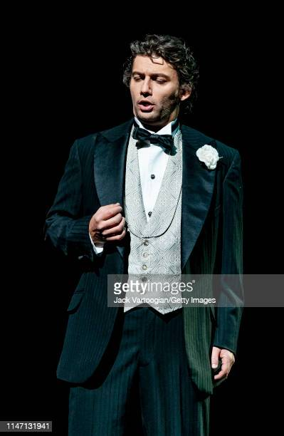 German tenor Jonas Kaufmann performs during the final dress rehearsal prior to the premiere of the Metropolitan Opera/Des McAnuff production of...