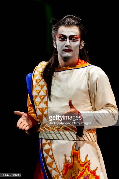 German tenor Jonas Kaufmann performs during the final dress rehearsal prior to the Metropolitan Opera/Julie Taymor season revival production of 'The...