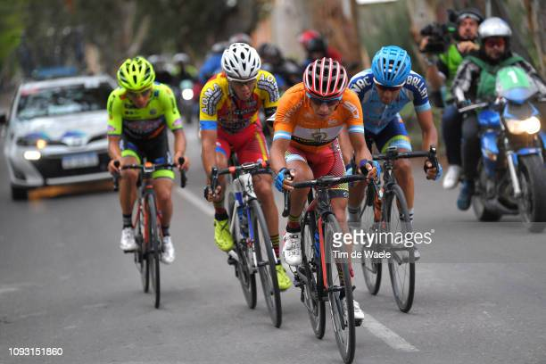 German Tivani of Argentina and Team A.C.A Virgen de Fatima / Daniel Zamora of Argentina and Team A.C.A Virgen de Fatima Orange Mountain Jersey /...