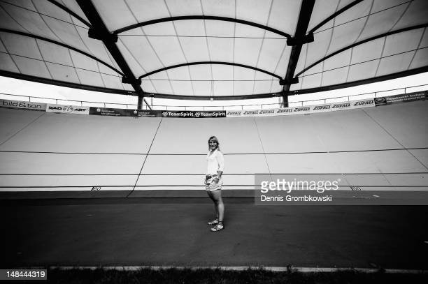 German track cycling athlete Kristina Vogel poses during a portrait session on July 9 2012 in Erfurt Germany