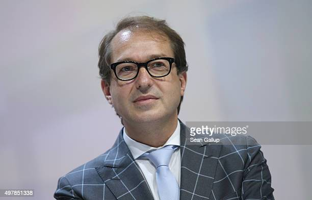 German Transport and Digital Technologies Minister Alexander Dobrindt attends the 2015 IT Summit on November 19 2015 in Berlin Germany The twoday...