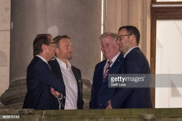 German Transport and Digital Technologies Minister Alexander Dobrindt Leader of Germany's free democratic FDP party Christian Lindner Chairman of the...