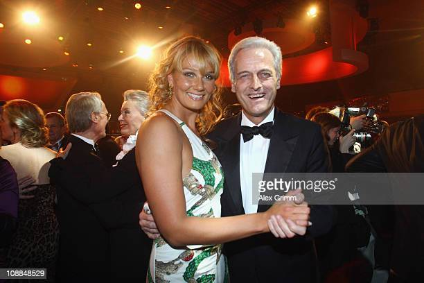 German Transport Minister Peter Ramsauer dances with Franziska van Almsick during the 20011 Sports Gala 'Ball des Sports' at the RheinMain Hall on...