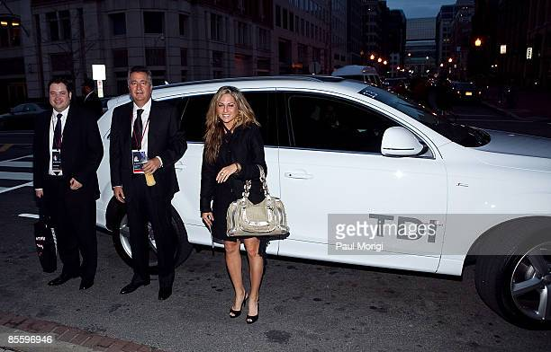 German Trevino of the Omnilife Foundation Jorge Vergara Chairman of Omnilife and Janina Insua of the American Business Council arrive in an Audi TDI...