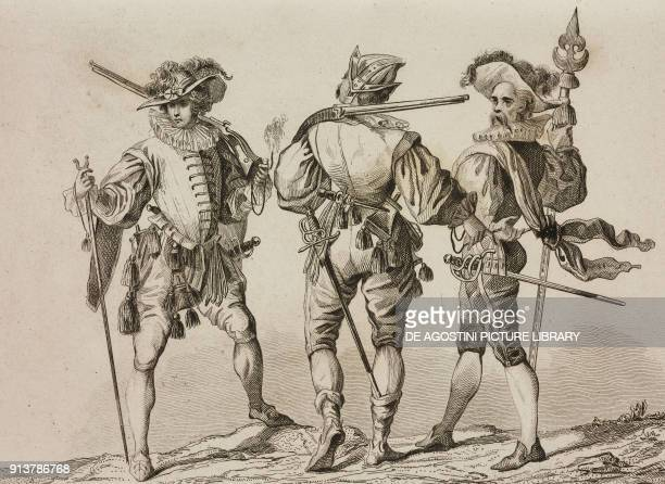 German troops in the 17th century engraving by Lemaitre Vernier and Monnin from Allemagne by Philippe Le Bas L'Univers pittoresque Europe published...