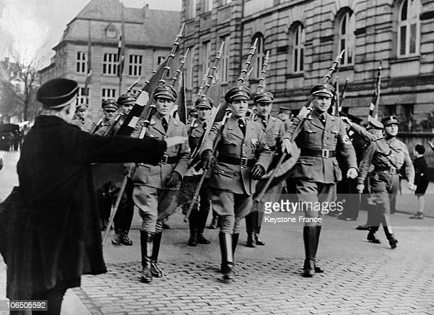 German Troops Parading On The Streets Of Cologne From March 7 1936 On Although It Was Banned By The Treaty Of Versailles And The Locarno Pact