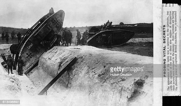German troops test the capablities of captured British tanks.
