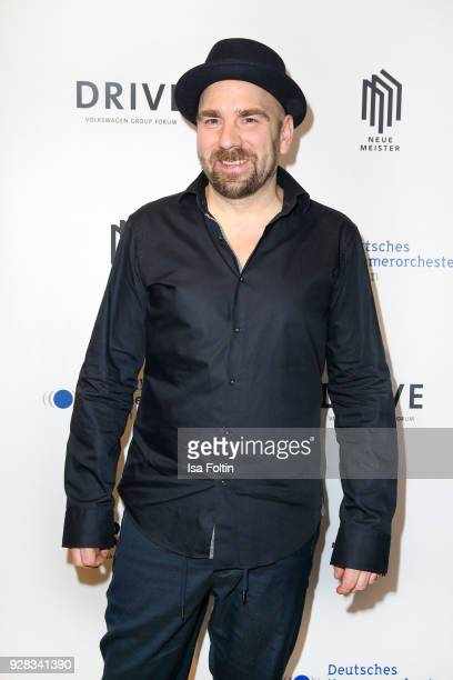 German trumpeter Sebastian Studnitzky during the 7th edition of the Berlin concert series 'Neue Meister' at DRIVE Volkswagen Group Forum on March 6...