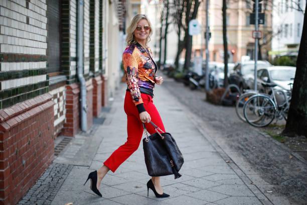 DEU: Carola Ferstl Street Style Shooting In Berlin