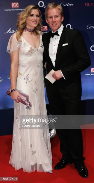 German TV host Johannes B Kerner and his wife Britta BeckerKerner arrive for the 57th annual Bambi Awards at the International Congress Center on...