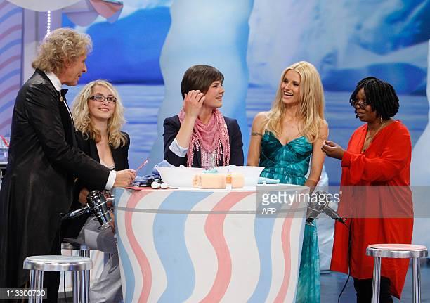 German TV host Thomas Gottschalk candidates Julia Wackerbauer and Maria Steinberger Swiss copresenter Michelle Hunziker and US actress Whoopi...