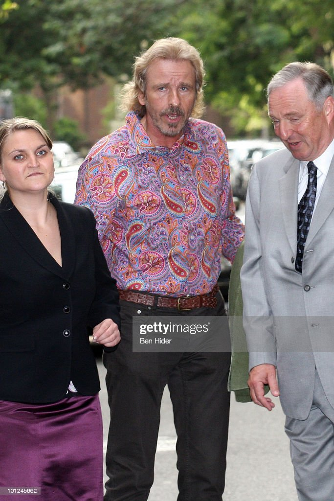 German TV Personality Thomas Gottschalk leaves for his 60th birthday celebration outside the Plaza Athenee on May 28, 2010 in New York City.