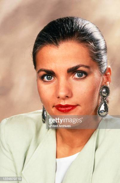 German TV presenter Birgit Schrowange circa 1985