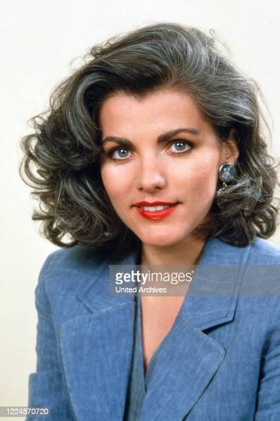 German TV presenter Birgit Schrowange circa 1990