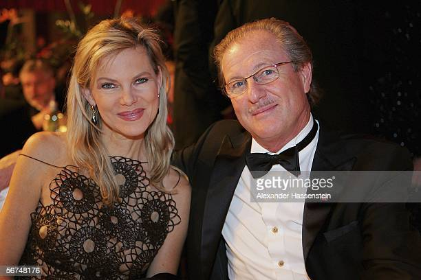 German TV presenter Nina Ruge poses with her husband Dr Wolfgang Reitzle Head of Linde during the Sports Gala Ball des Sports 2006 edition at the...