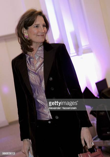 German TV presenter Tita von Hardenberg arrives at the 'Golden Prometheus' Gala at the MartinGropiusBau January 26 2006 in Berlin Germany