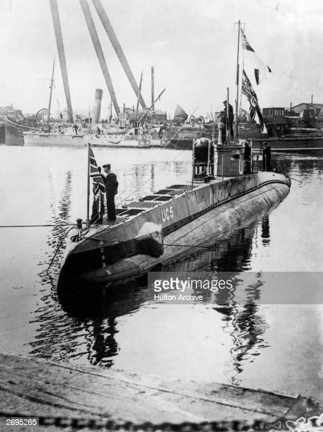 A German UBoat in dock