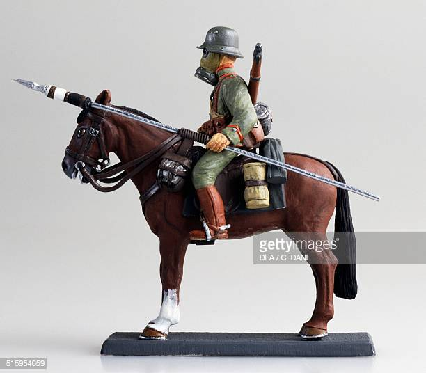 German uhlan from the First World War toy soldier on horseback. Germany, 20th century.