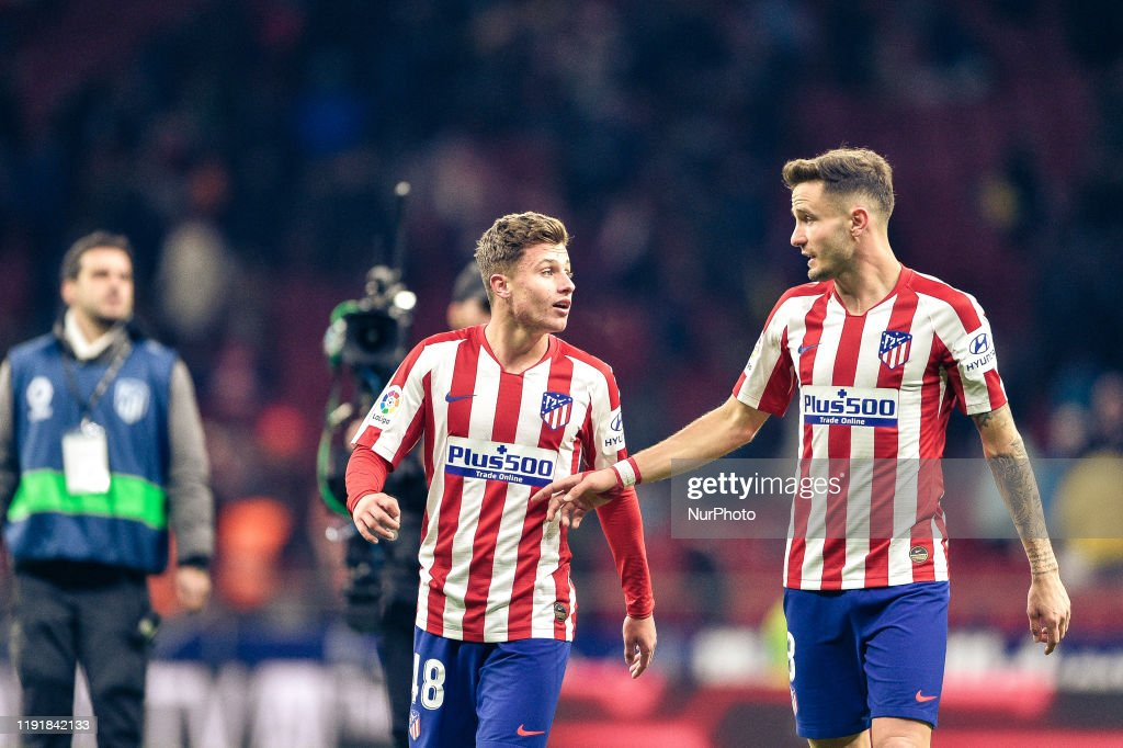 German Valera and Saul Niguez during La Liga match between Club ...