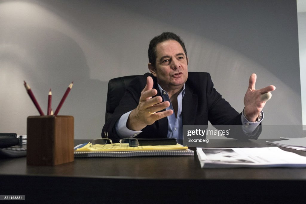 German Vargas Lleras, former Colombian vice president and Radical Change party presidential candidate, speaks during an interview at his office in Bogota, Colombia, on Thursday, Nov. 2, 2017. Lleras has proposed corporate tax cuts, accompanied by a crackdown on tax evasion. Photographer: Nicolo Filippo Rosso/Bloomberg via Getty Images