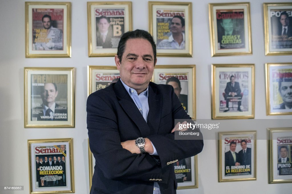 German Vargas Lleras, former Colombian vice president and Radical Change party presidential candidate, stands for a photograph at his office in Bogota, Colombia, on Thursday, Nov. 2, 2017. Lleras has proposed corporate tax cuts, accompanied by a crackdown on tax evasion. Photographer: Nicolo Filippo Rosso/Bloomberg via Getty Images