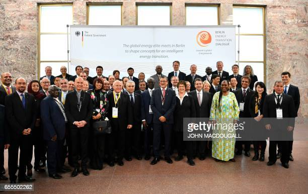German Vice Chancellor and Federal Foreign Minister Sigmar Gabriel , German Economy and Energy Minister Brigitte Zypries , Adnan Z Amin, the...