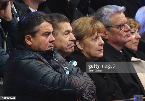 German Vice Chancellor and Minister of Economy Sigmar Gabriel Joachim Sauer German Chancellor Angela Merkel and German President Joachim Gauck attend...