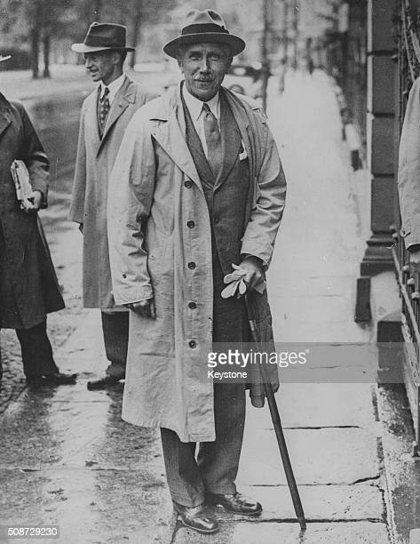 German Vice Chancellor Franz von Papen pictured arriving at his home after being appointed as the new Ambassador to Austria by Hilter July 28th 1934