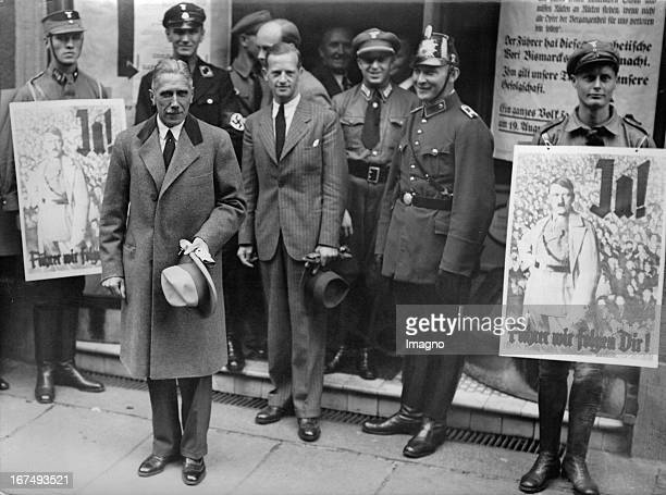German ViceChancellor Franz von Papen in front of a polling station in Berlin on the occasion of the referendum about the Association of Head of...