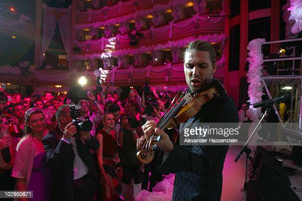 German violinist David Garrett performs during the Red Ribbon Cotillion as part of the Life Ball 2010 at Burgtheater on July 17 2010 in Vienna Austria