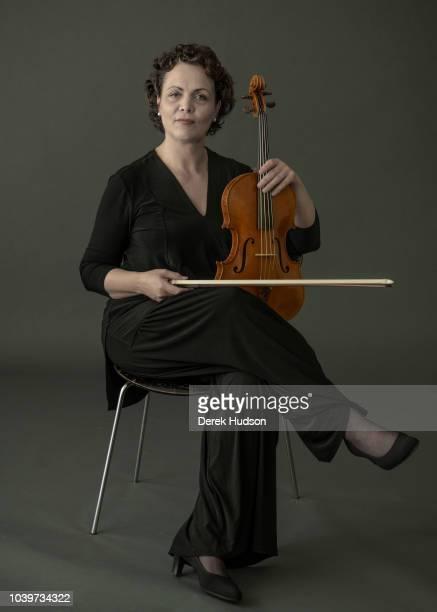German violist Tabea Zimmerman photographed at the Berlin's Hochschule für Musik 'Hanns Eisler' located at Gendarmenmarkdt Berlin