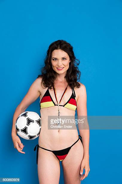 A German woman football fan