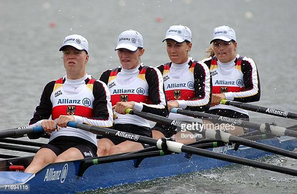 German woman's four Christiane Huth Magdalena Schmude Jeannine Hennicke and Stefanie Schiller during the World Rowing Championships on August 21 at...