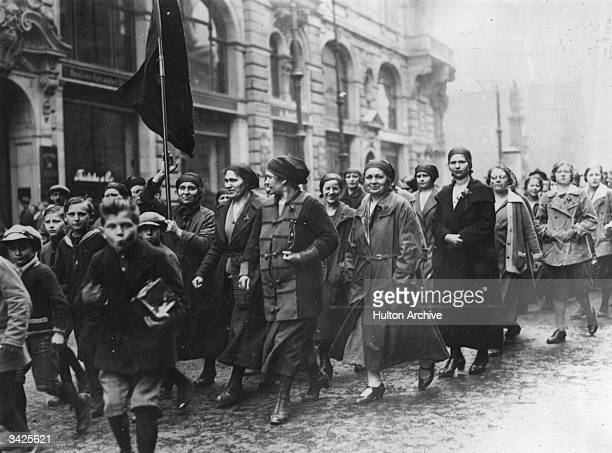 German women and children demonstrating against the Peace Treaty
