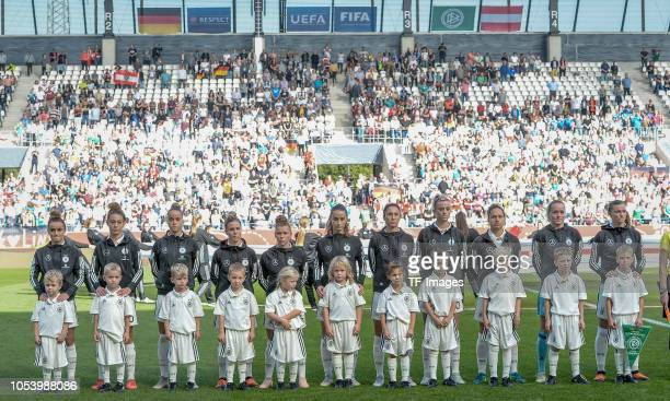 German Women National team lineup prior the women friendly match between Germany and Austria on October 5 2018 in Essen Germany