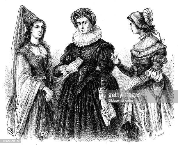 german women's costumes 14th century spanish tradition and the renaissance / deutsche Frauenkostüme 14 Jahrhundert spanische Tradition und...