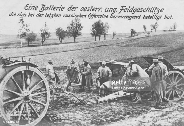 German World War I postcard depicting soldiers in Austria, 1915. From the New York Public Library. .