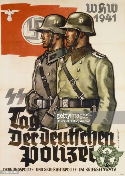 German world war two propaganda poster 1941'Tag der Deutschen Polizei'