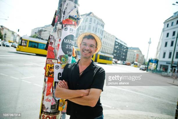 German writer Christian Seltmann poses at Rosenthaler Platz square inBerlinGermany 24 July 2015 His new book entitled 'Where the fuck is the...