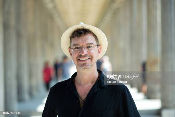 German writer Christian Seltmann poses at the New Museum inBerlinGermany 24 July 2015 His new book entitled 'Where the fuck is the Fuehrer' will be...