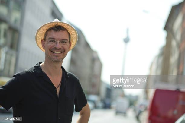 German writer Christian Seltmann poses inBerlinGermany 24 July 2015 His new book entitled 'Where the fuck is the Fuehrer' will be released on 07...