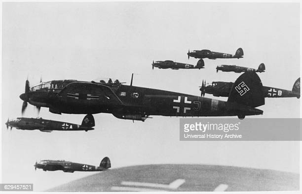 German WWII Fighter Airplanes in Flight from the Documentary Television Film 'The Battle of Britain' 1964