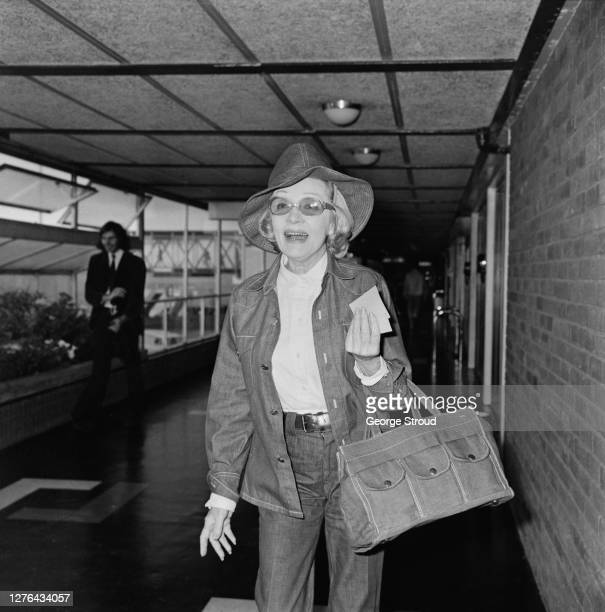 German-American actress and singer Marlene Dietrich at London Airport, UK, 1st August 1972.