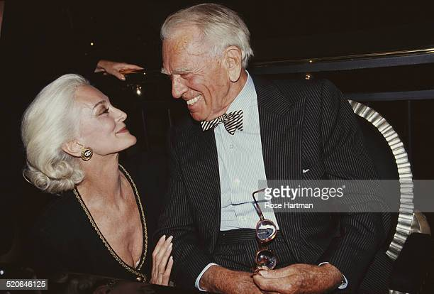 GermanAmerican fashion photographer Horst P Horst and American model and actress Carmen Dell'Orefice attend a launch party for Horst's book at the...