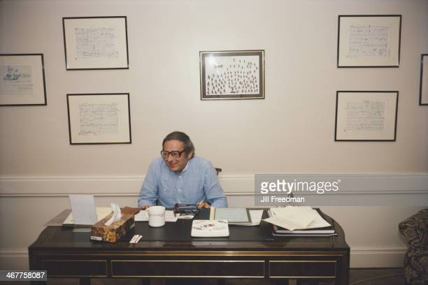 GermanAmerican pianist composer and conductor André Previn in Pittsburgh Pennsylvania September 1983 He is music director of the Pittsburgh Symphony...