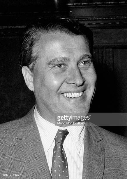 GermanAmerican scientist and engineer Wernher Von Braun born Wernher Magnus Maximilian Freiherr Von Braun whose V2 rockets caused havoc in Britain...