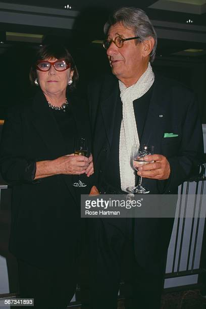 GermanAustralian photographer Helmut Newton with his wife Australian actress and photographer June Newton attending a party at Christie's circa 1995