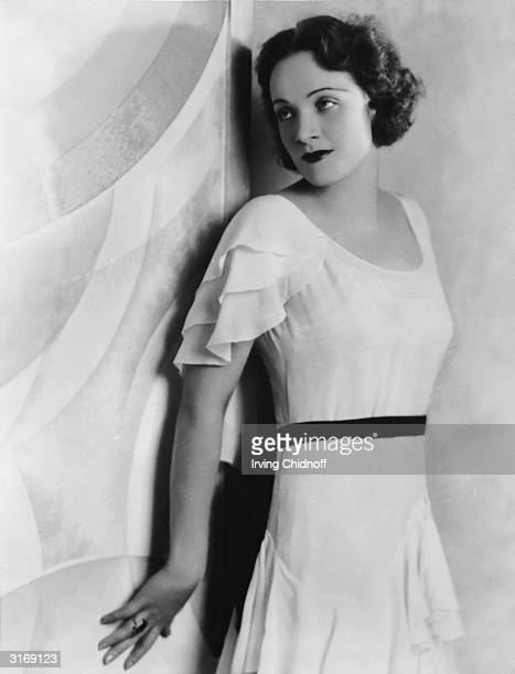 German-born actress Marlene Dietrich as a brunette.